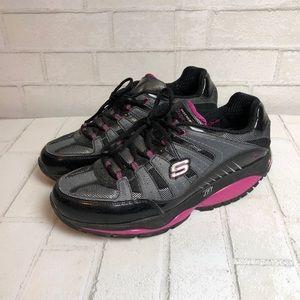 Sketchers Shape-Ups Sneakers Pink Black 10